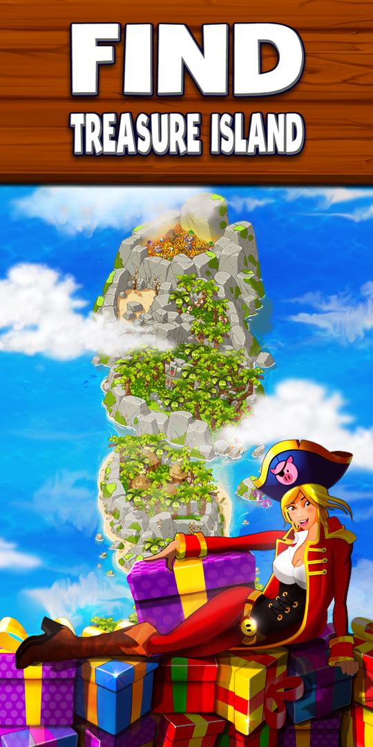 Find treasure island